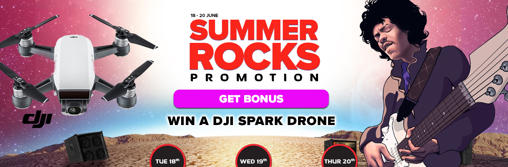 Daily free spins and win a DJI Spark Drone