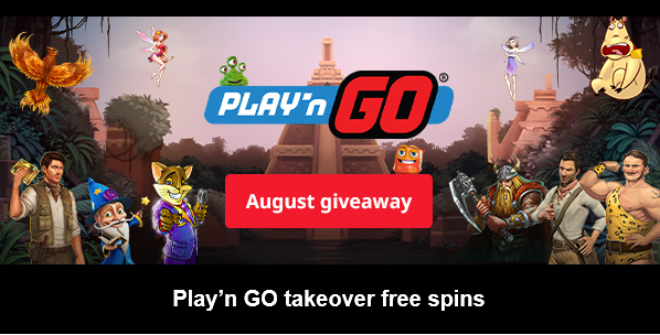Claim more than 500 free spins in August