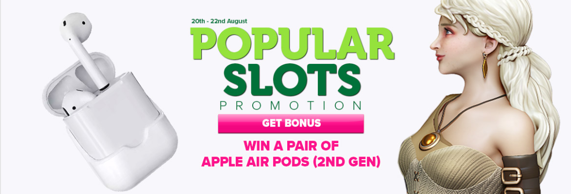 Free spins and Apple Air Pods giveaway