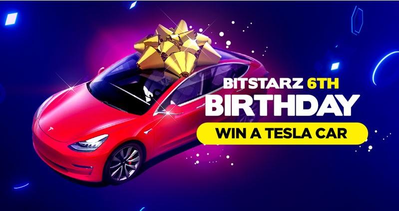 Bitstarz birthday, win a Tesla Model 3