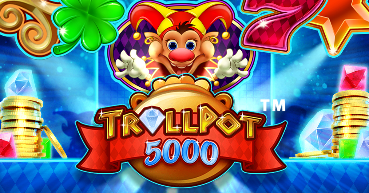 Trollpot 5000, one line slot game with nudge feature