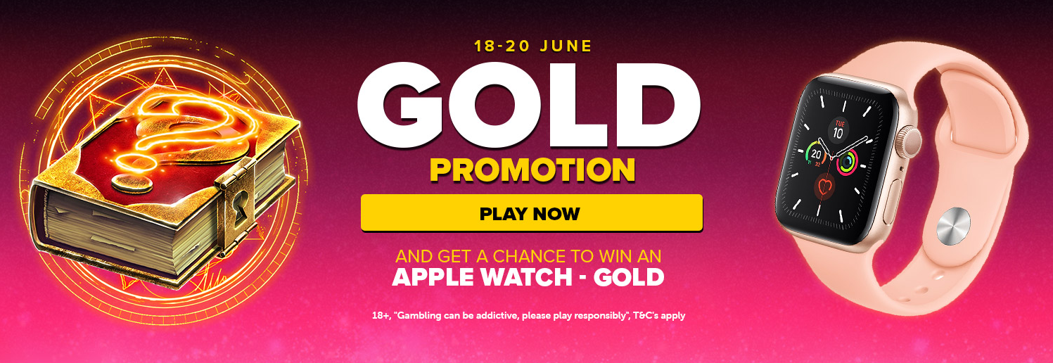 Claim free spins and win an Apple Watch – Gold