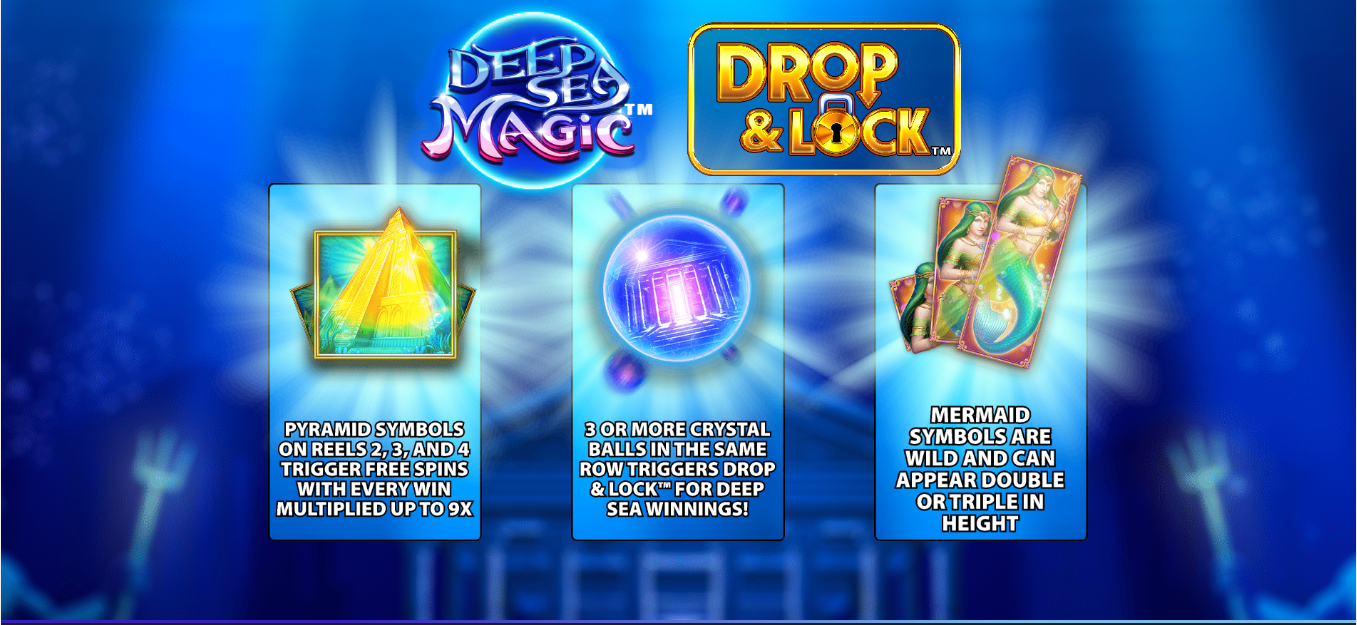 Deep Sea Magic, Drop & Lock, now online