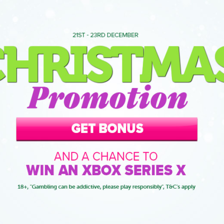 Christmas Promotion, free spins and win an Xbox Series X