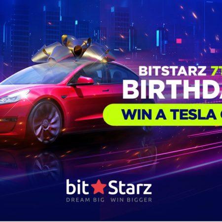 Celebrate Bitstarz and win a Tesla Model3